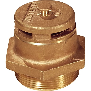 Justrite® Vertical Vents, for Petroleum-Based, Brass Vent