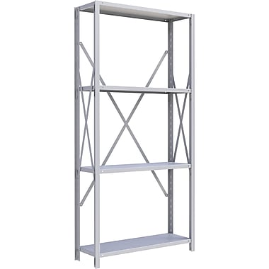 Metalware RK209 Boltless Shelving Unit, 4-Shelves, 36
