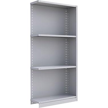 Metalware – Étagère sans boulons RK210, 4 tablettes, 36 x 12 x 76 po, gris pâle