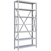 "Metalware RK217 Boltless Shelving Unit, 7-Shelves, 36"" x 12"" x 76"", Light Grey"