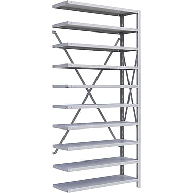 Metalware RK230 Boltless Shelving Unit, 10-Shelves, 36