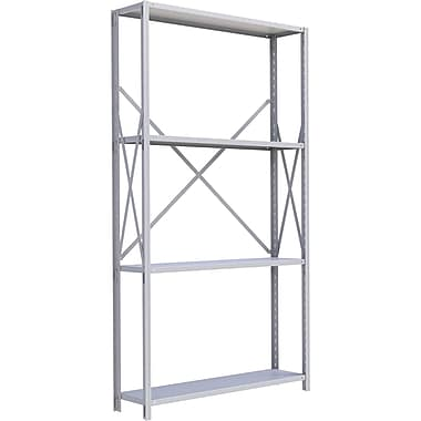 Metalware RK285 Boltless Shelving Unit, 4-Shelves, 48