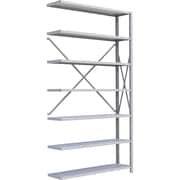 "Metalware RK298 Boltless Shelving Unit, 7-Shelves, 48"" x 18"" x 88"", Light Grey"