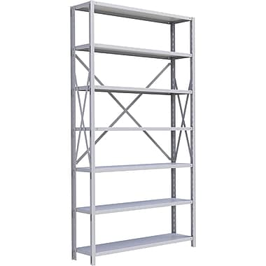 Metalware RK297 Boltless Shelving Unit, 7-Shelves, 48