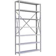 "Metalware RK299 Boltless Shelving Unit, 7-Shelves, 48"" x 18"" x 88"", Light Grey"