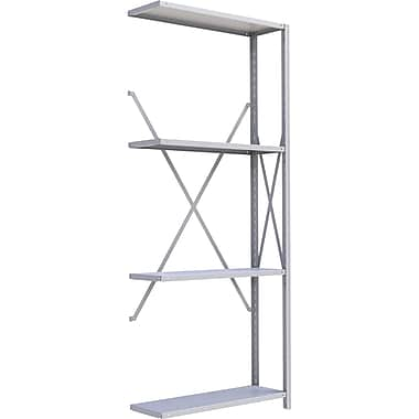 Metalware RK312 Boltless Shelving Unit, 4-Shelves, 36