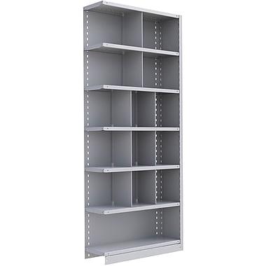 Metalware – Étagère enclenchable RK364, 7 tablettes, 36 x 18 x 88 po, gris pâle