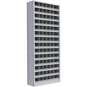 "Metalware RK385 Boltless Shelving Unit, 15-Shelves, 36"" x 18"" x 88"", Light Grey"