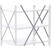 Metalware Boltless Shelving Unit, Back Braces, Grey