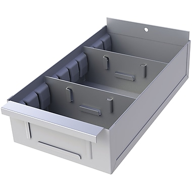 Metalware Boltless Shelving Unit, Shelf Boxes, 5 5/8