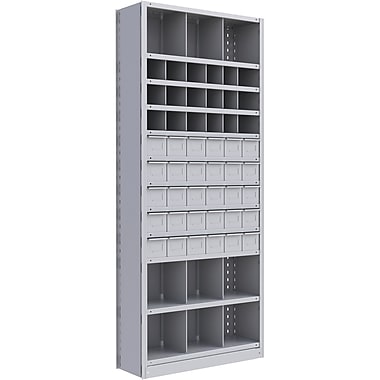 Metalware RK917 Boltless Shelving Unit, 12-Shelves, 36