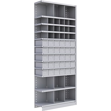 Metalware RK920 Boltless Shelving Unit, 12-Shelves, 36
