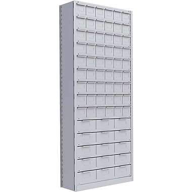 Metalware RK939 Boltless Shelving Unit, 15-Shelves, 36