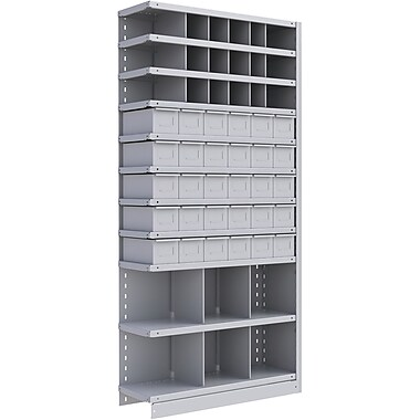 Metalware RK971 Boltless Shelving Unit, 11-Shelves, 36