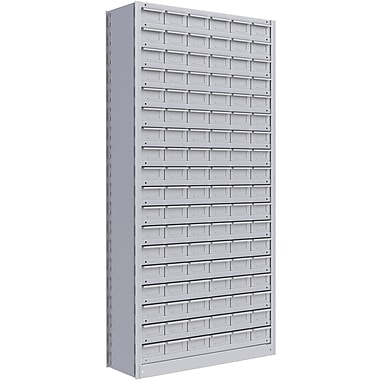 Metalware RK982 Boltless Shelving Unit, 19-Shelves, 36