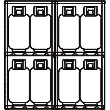 JustriteMD – Casier de rangement à bouteille GPL en aluminium 60 x 65 x 32 po, 211 lb