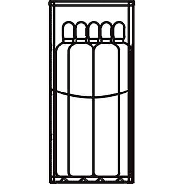 JustriteMD – Casier de rangement à bouteille GPL en aluminium 30 x 65 x 32 po, 102 lb