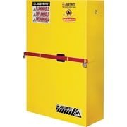"Justrite® Sure-Grip® Ex High Security Flammable Safety Cabinets, 2 Doors, Manual, Yellow, 43"" x 18"" x 65"""