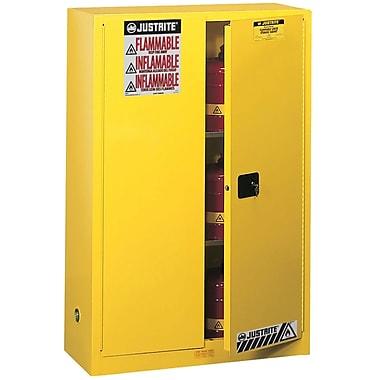 JustriteMD – Armoire de rangement ininflammable Sure-GripMD, 2 portes à ferm. auto., 43 x 18 x 65 po