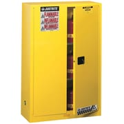 "Justrite® Sure-Grip® Ex Flammable Storage Cabinets, 2 Doors, Manual, 43"" x 18"" x 65"""