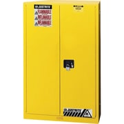 "Justrite® Sure-Grip® Ex Flammable Storage Cabinets, Sliding Door, Self-Closing, 43"" x 18"" x 65"""