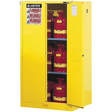 Justrite® Sure-Grip® Ex Flammable Storage Cabinets, 2 Doors, Manual, 43