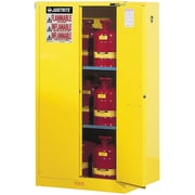 "Justrite® Sure-Grip® Ex Flammable Storage Cabinets, 2 Doors, Manual, 43"" x 34"" x 65"""