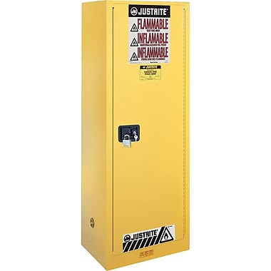 Justrite® Sure-Grip® EX Slimline Safety Cabinets, 1 Door, Manual, Slimline, 23