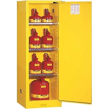 Justrite® Sure-Grip® EX Slimline Safety Cabinets, 1 Door, Self-Close, Slimline, 23