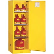 "Justrite® Sure-Grip® EX Slimline Safety Cabinets, 1 Door, Self-Close, Slimline, 23"" x 18"" x 65"""