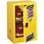 "Justrite® Countertop and Compac Sure-Grip® Ex Safety Cabinets, 1 Door, Self-Closing, Compac, 15 Gal, 23 1/4"" x 18"" x 44"""