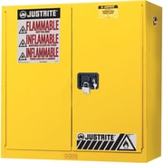 "Justrite® Wall Mount Sure-Grip® Ex Safety Cabinets, 2 Doors, Manual, Wall Mount, 20 Gal, H"": 43"" x 12"" x 44"""