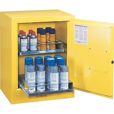 Justrite® Sure-Grip® Ex Aerosol Can Benchtop Cabinet, 24 Aerosol Cans, 21