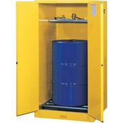 "Justrite® Sure-Grip® EX Vertical Drum Storage Cabinets, 2 Doors,Manual with drum rollers, 34"" x 34"" x 65"", 425Lb"
