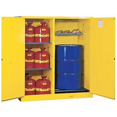 JustriteMD – Armoire à double fonction Sure-GripMD, 2 portes, fermeture auto. ext., tiroir coulissant, 59 x 34 x 65 (po), 700 lb