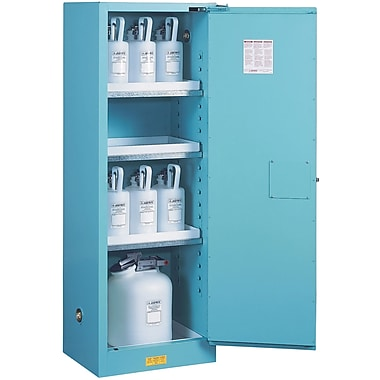 Justrite® Sure-Grip® Ex Acid/Corrosive Storage Cabinets, 1 Door, Manual, Slimline,