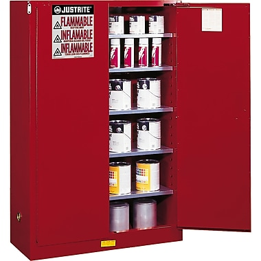 Justrite® Sure-Grip® Ex Paint & Ink Safety Storage Cabinets, 2 Doors, Manual, 43