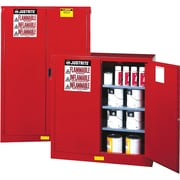 "Justrite® Sure-Grip® Ex Paint & Ink Safety Storage Cabinets, 2 Doors, Self-Closing, 34"" x 34"" x 65"""