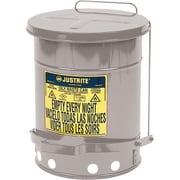 JustriteMD – Poubelles à déchets huileux, 21 gal, 8 3/8 x 23 7/16 po, acier inoxydable