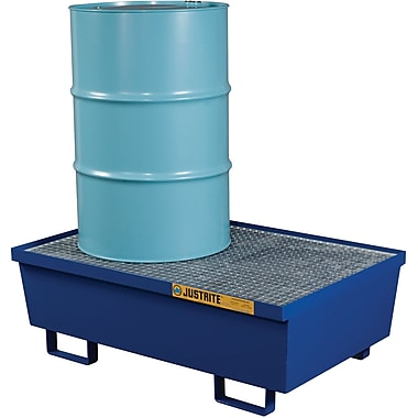 Justrite® Steel Spill Containment Pallets, 2-Drum, 31 1/2