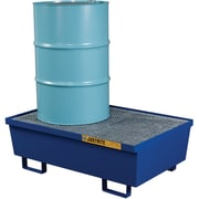 "Justrite® Steel Spill Containment Pallets, 2-Drum, 31 1/2"" x 16 5/16"", Blue"
