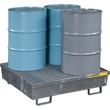 Justrite® Steel Spill Containment Pallets, 4-Drum Square, 47 1/4