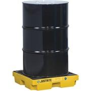 "Justrite® EcoPolyBlend™ Accumulation Centers, 1-Drum Unit, 25"" x 25"" x 5 1/2"", Yellow"
