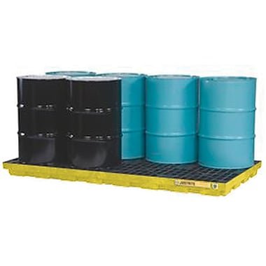 Justrite® EcoPolyBlend™ Accumulation Centers, 8-Drum Unit,