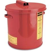 JustriteMD – Bac de trempage de 3,5 gallons en acier, 11 3/8 x 11 1/4 po, 8 lb