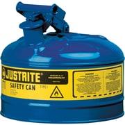 JustriteMD – Bidon de sécurité de type I sans entonnoir, 1 gal, 9 1/2 x 11 po, bleu