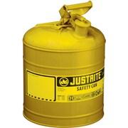 JustriteMD – Bidon de sécurité de type I sans entonnoir, 2 gal, 9 1/2 x 13 3/4 po, jaune