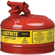 JustriteMD – Bidon de sécurité de type I sans entonnoir, 1 gal, 9 1/2 x 11 po, rouge