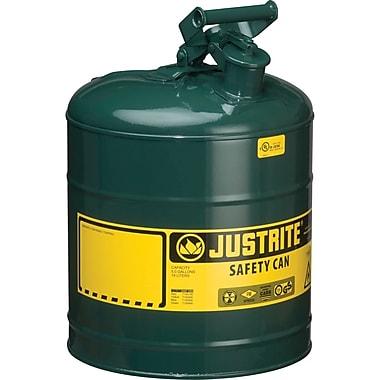 JustriteMD – Bidon de sécurité de type I sans entonnoir, 5 gal, 11 3/4 x 16 7/8 po, vert