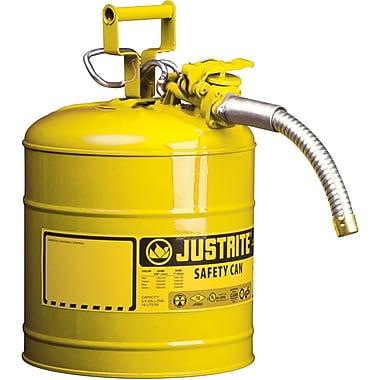 JustriteMD – Bidon de sécurité AccuFlowMC de type II, 5/8 po, 5 gallons, jaune